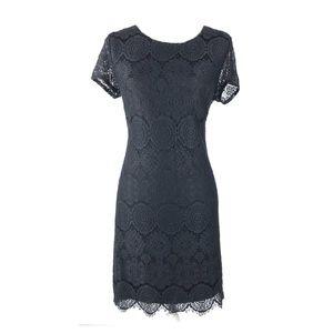 Laundry by Shelli Segal 6 dress black lace floral